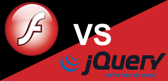 flash vs jquery