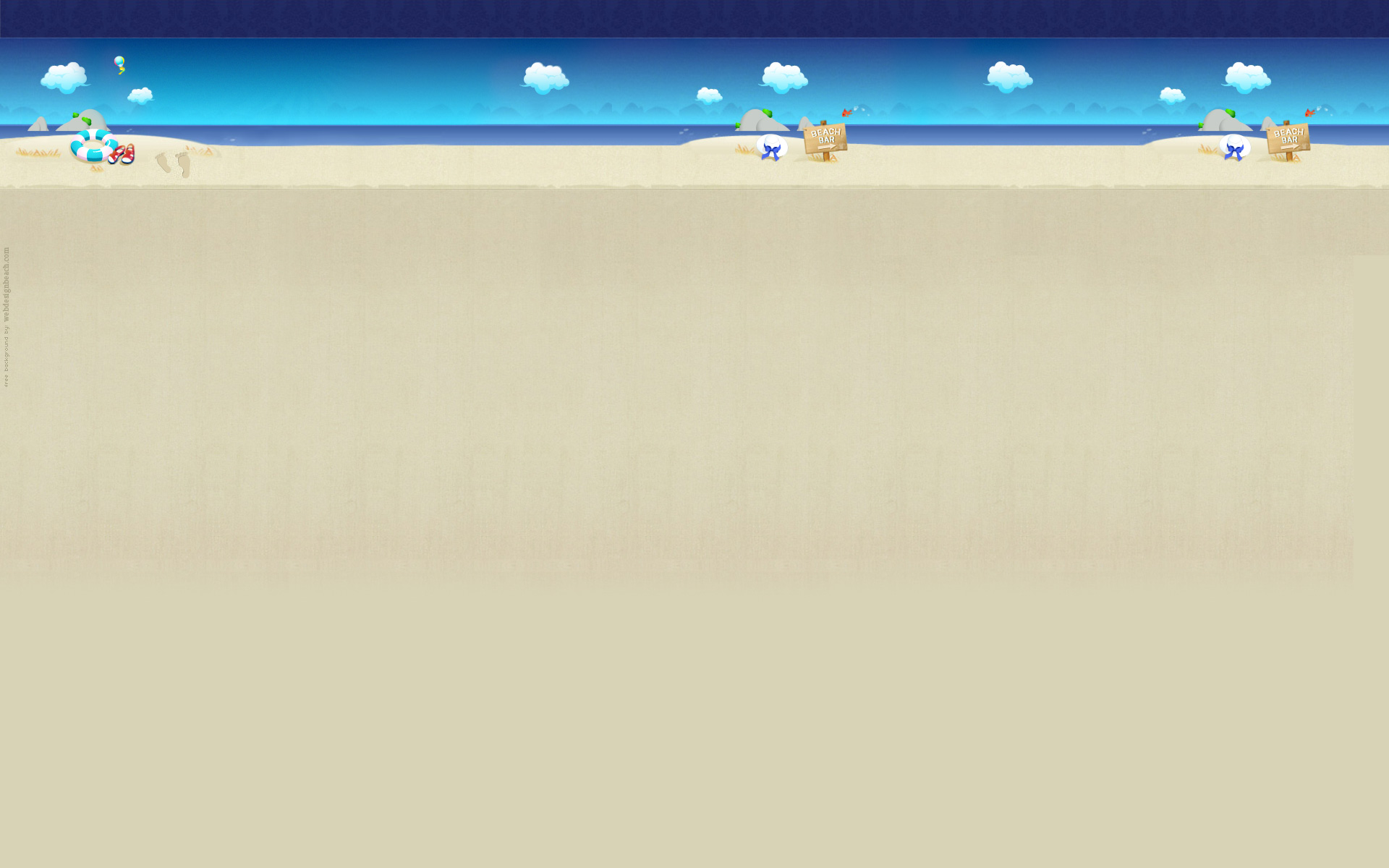 Web Design Beach Twitter background