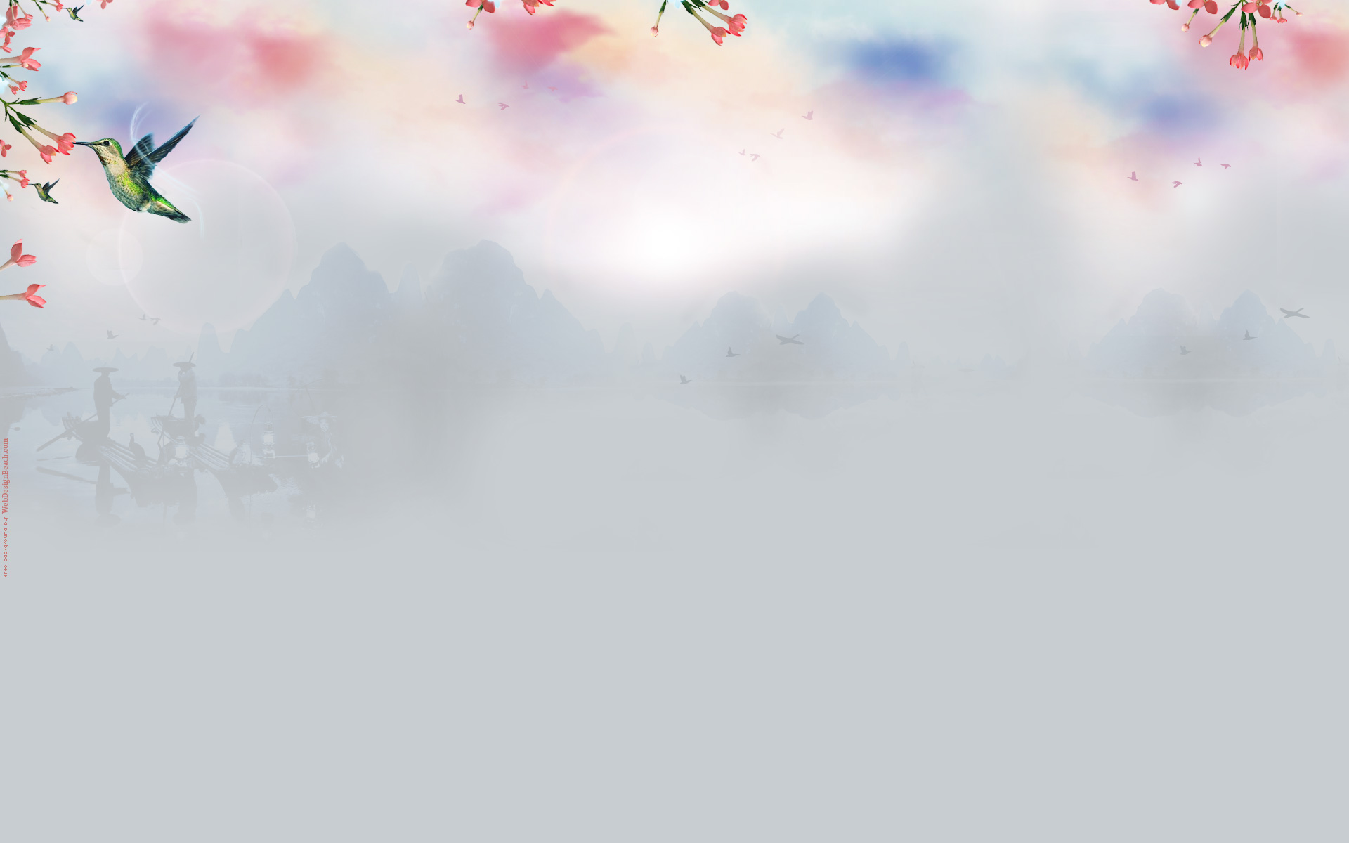 Zen Birds Twitter background